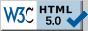 Valid HTML 5.0